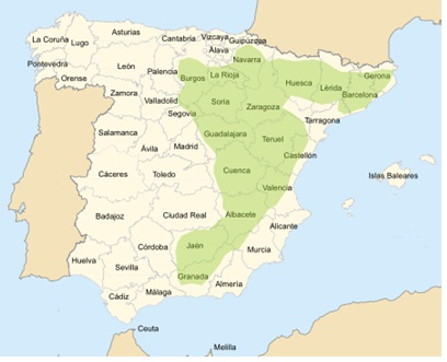 Truffle map Spain